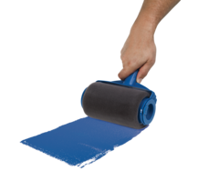 Paint runner   rolling with hand f