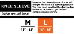 Knee sleeve sizing