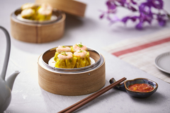Siew mai with prawn topping